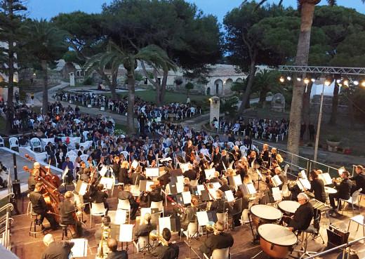 Imagen del concierto que la Orquestra Simfònica de les Illes VBaleares ofreció en el Lazareto en 2018