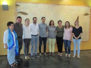 Maite Salord, con los representantes de cada municipio.