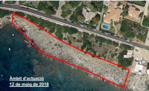 Zona del litoral de la urbanización de Binissafúller que será limpiada este sábado