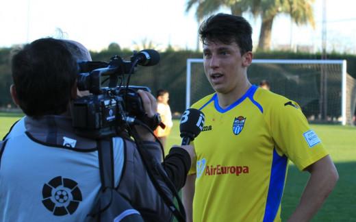 Farrando, tras debutar con el Atlético Baleares.