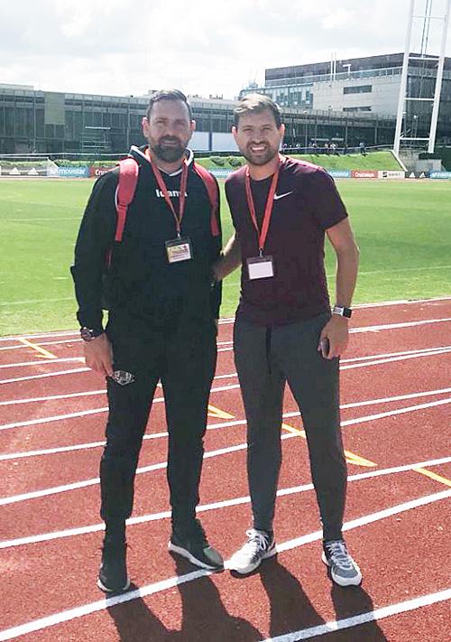 Los dos técnicos, en Madrid.