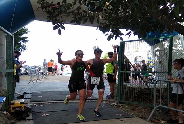 Llegada del triatlón de Es Castell