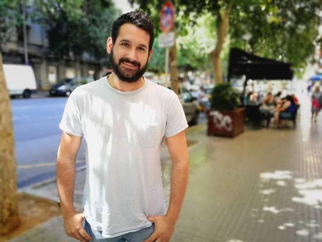 Juanjo Martínez, posando antes de la entrevista.