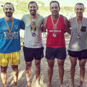 Ganadores y finalistas masculinos.