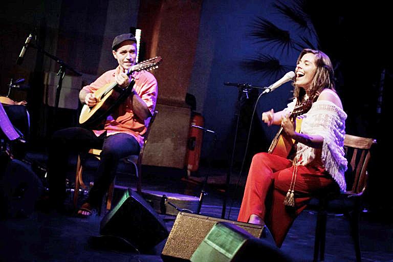 Anna Ferrer, durante una actuación.