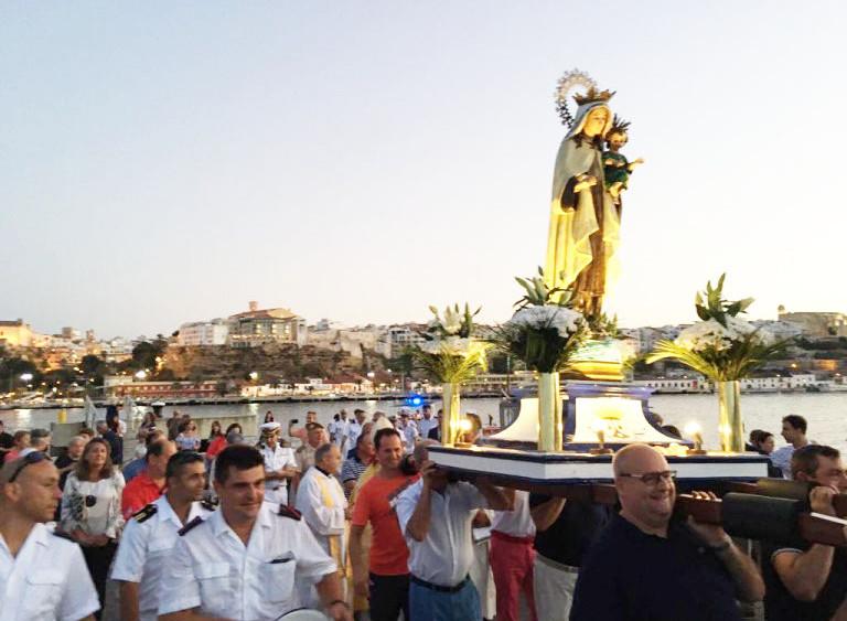 La imagen de la Virgen del Carmen presidirá la procesión en su honor.