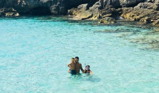 En aguas de Menorca.