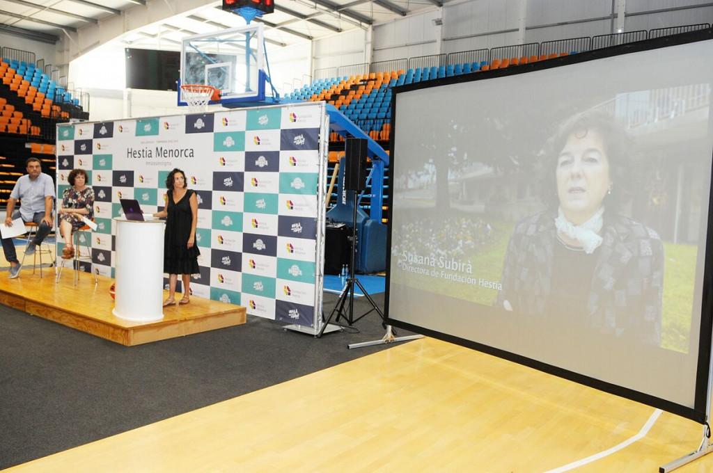 Momento de la presentación del sponsor principal del club en 2018 (Foto: Tolo Mercadal)