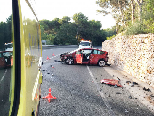 Accidente en la carretera de Fornells