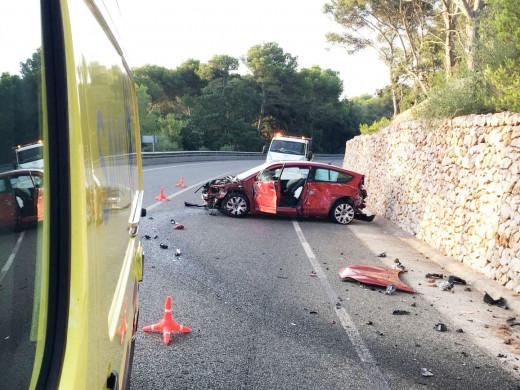 Accidente en la carretera de Fornells