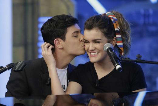 Alfred y Amaia, en un programa de televisión