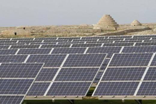 Más paneles solares,