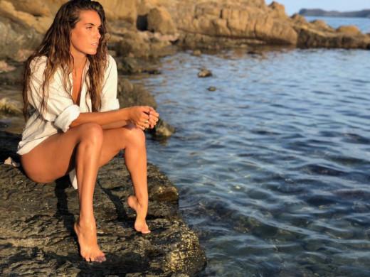 Ona Carbonell, en una fotografía que subió a Instagram en Es Murtar.