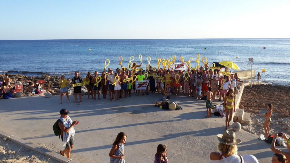 Imagen de la concentración (Fotos: @FreeRomeva)