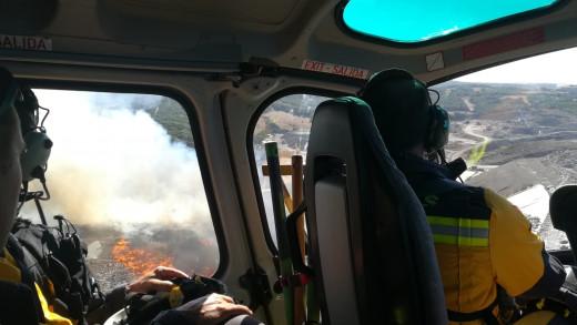 El fuego, visto desde el aire.