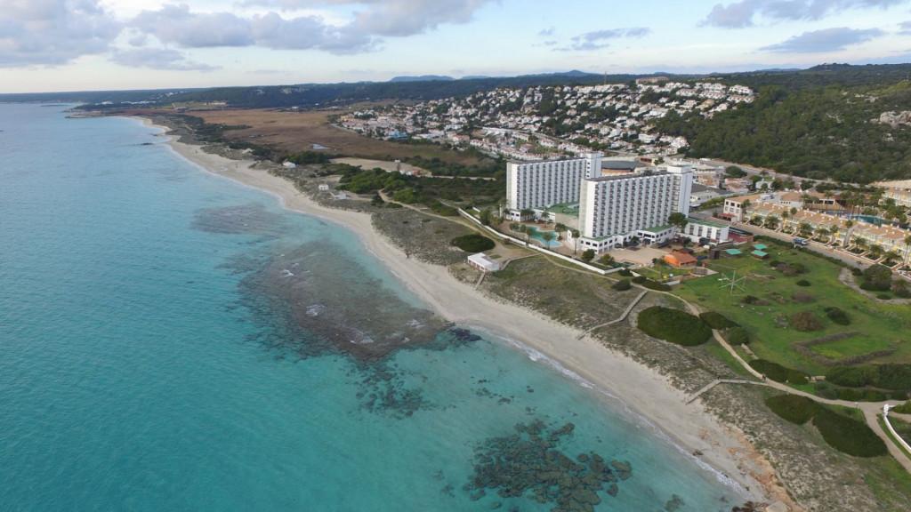 Imagen aérea de la playa (Foto: Turisme de les Illes Balears)