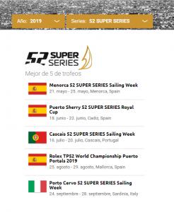 Calendario de competiciones para 2019.