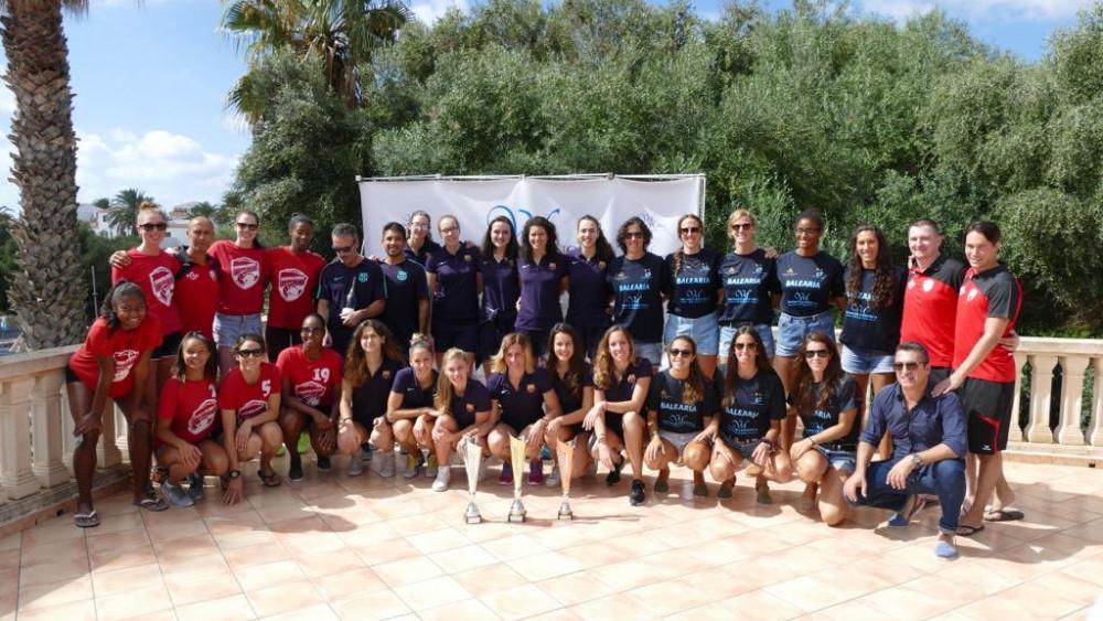 Foto de grupo de los equipos participantes (Fotos: CV Ciutadella)