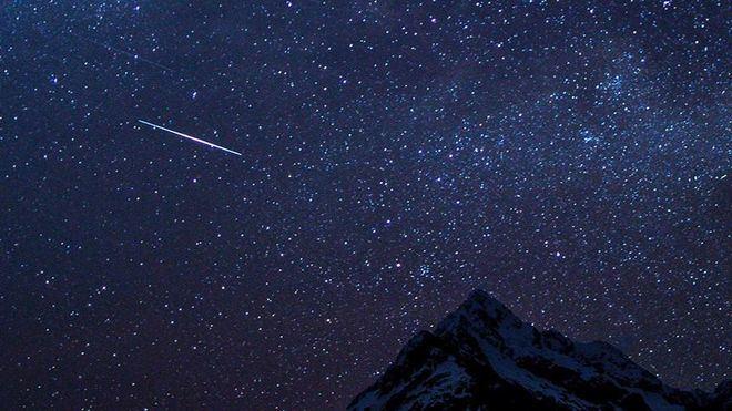 Cielo lleno de estrellas.