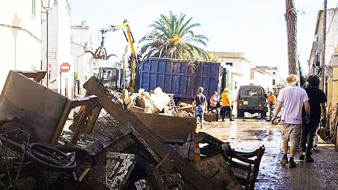 Imagen de las inundaciones en Mallorca.