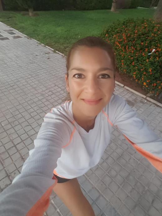 Natacha López, maratoniana que sufrió un cáncer de mama (Foto: N.L.)