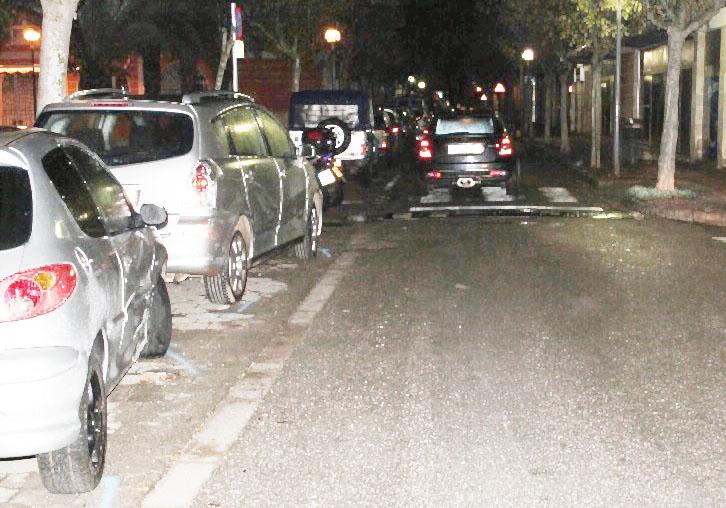 Accidente en la Plaza Juan de Borbón de Ciutadella