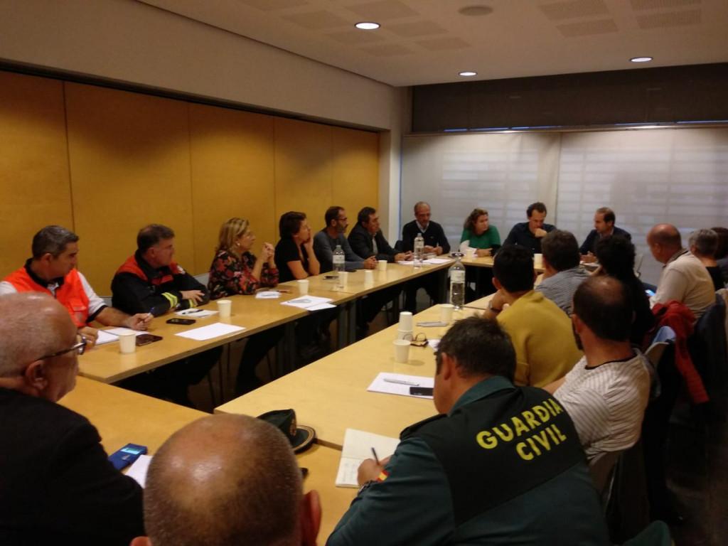 Imagen de la reunión de urgencia en el Consell (Foto: Govern balear)