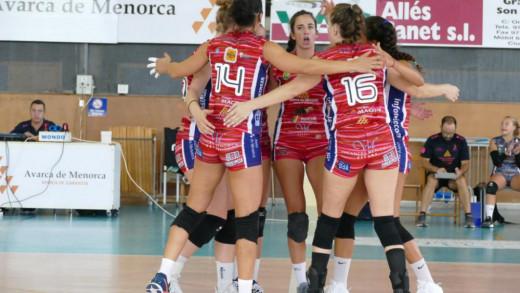 Las jugadoras del Avarca celebran un punto.