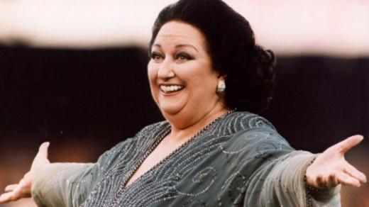 Montserrat Caballé durante un recital