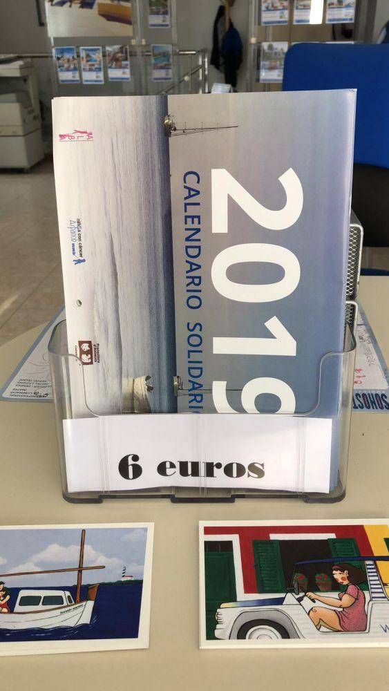 Es el coste del calendario solidario que se puede adquirir en las oficinas de Bonnin Sanso.