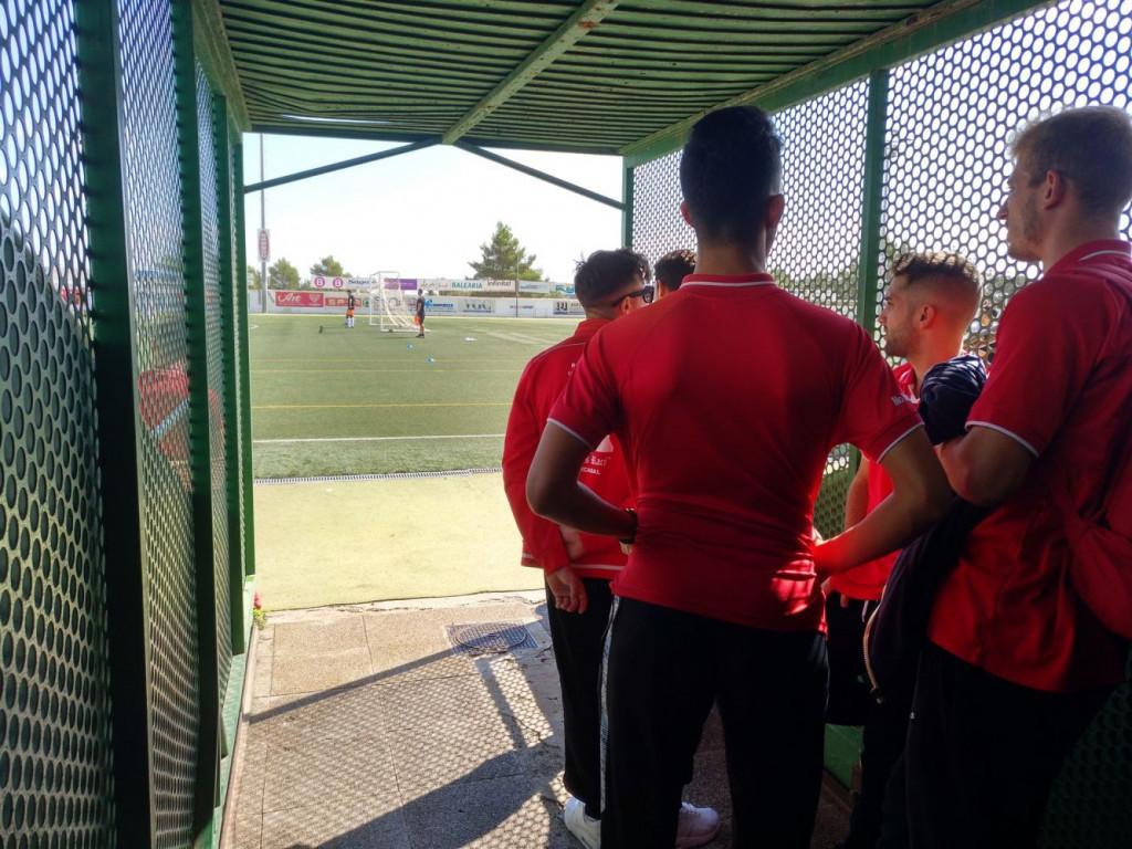 Los jugadores, el pasado 13 de octubre en Santa Eulàlia.