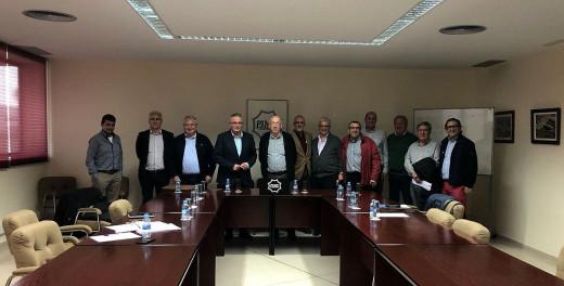Representantes de El Pi, con dirigentes de PIME Menorca.