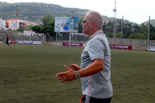 Tòbal Tudurí, en el partido ante el Formentera (Foto: Tolo Mercadal)