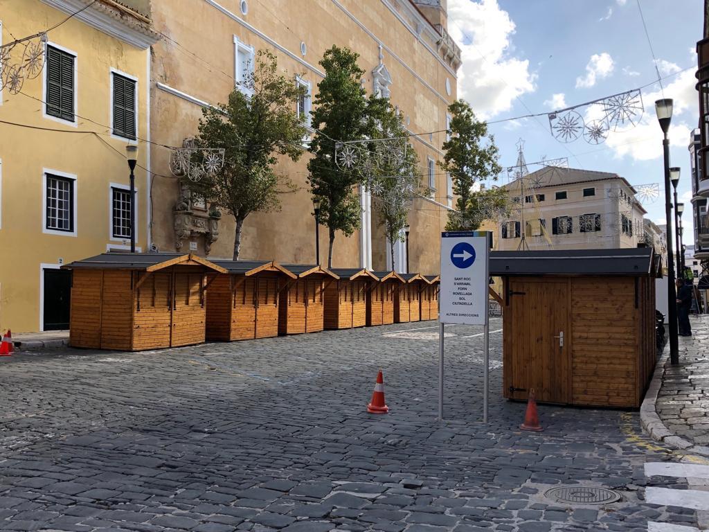 Las casetas ya están instaladas (Foto: Tolo Mercadal)
