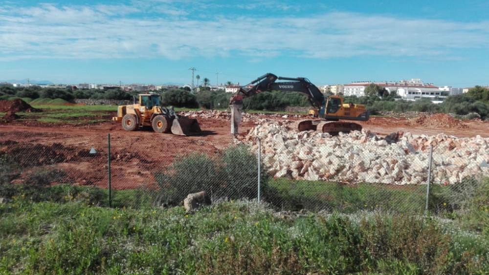Obras de ampliación de la subestación eléctrica de Ciutadella.