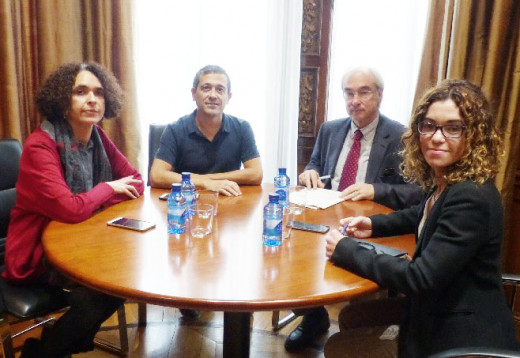 Imagen de la reunión que los diputados de Més per Menorca han mantenido con la Delegada del Gobierno en Baleares