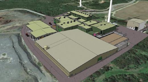 La planta de gestión de residuos renovada ofrecerá este aspecto.