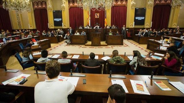 Parlament Infantil de una pasada edición.