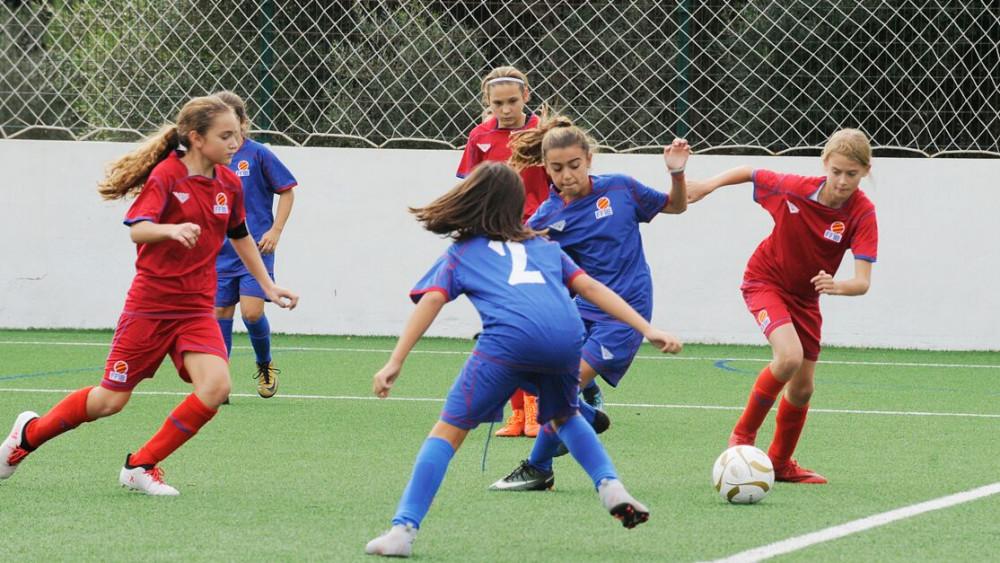 Imagen del partido femenino de las selecciones de Balears (Fotos: Tolo Mercadal)