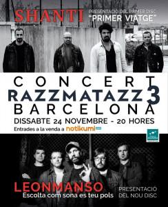 Cartel del concierto en Barcelona.