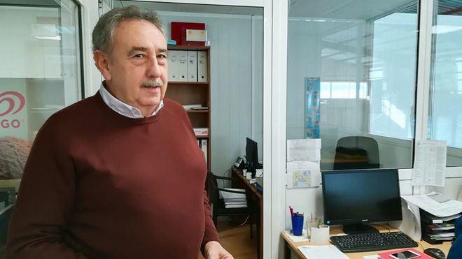 Tolo Servera, en su despacho tras la entrevista (Foto: mallorcadiario.com)