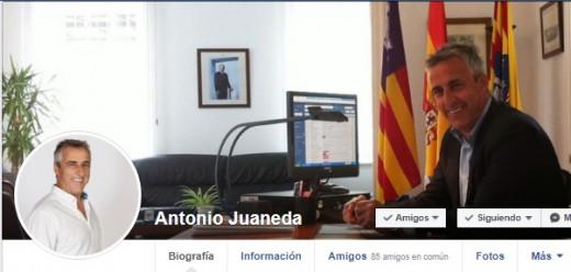 Imagen de la cuenta de Facebook de Antoni Juaneda