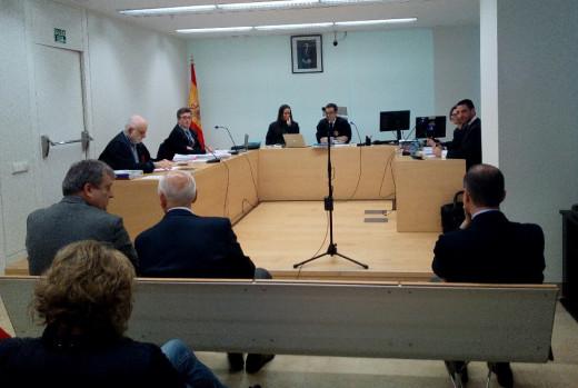 Imagen del juicio que se está celebrando en Maó