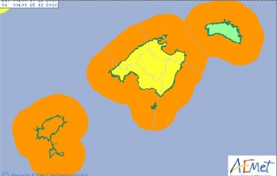 Previsión de la llegada de mal tiempo a Menorca