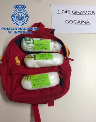La cocaína intervenida iba a ser distribuida en la isla