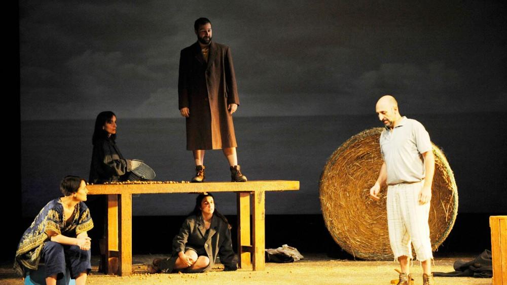 Imagen de una escena de la obra (Fotos: Tolo Mercadal)