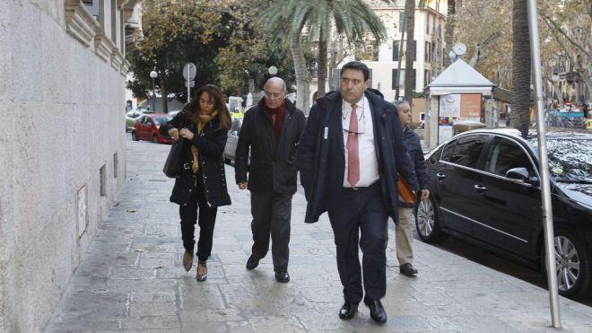 El principal acusado, Ángel Matías, a su entrada en el Juzgado