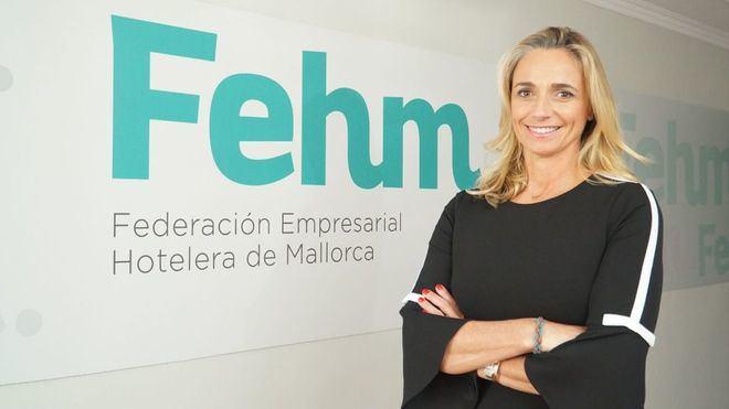 Maria Frontera, antes de la entrevista (Foto: mallorcadiario.com)