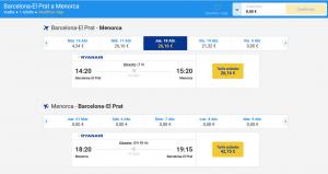Precio del billete en Semana Santa con Ryanair.