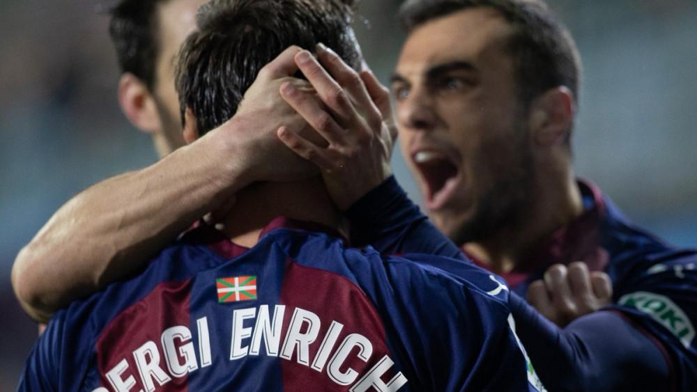Celebración del gol (Fotos: SD Eibar y La Liga)